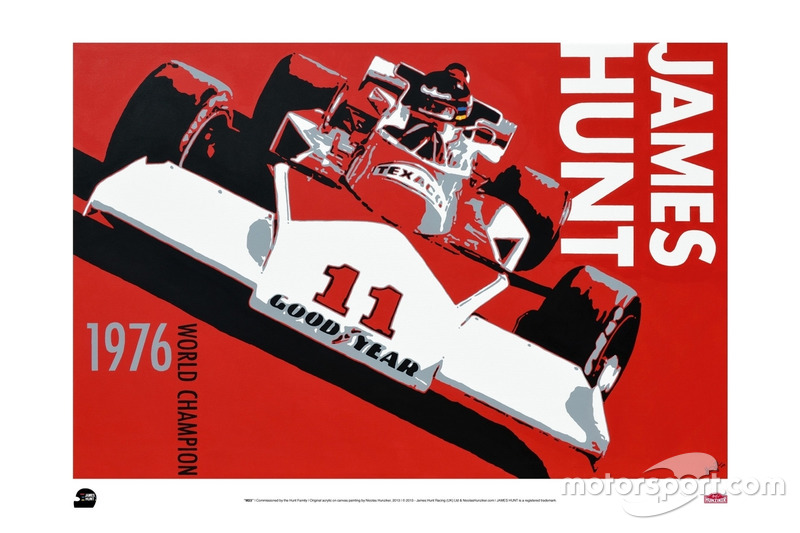 Poster James Hunt, McLaren M23