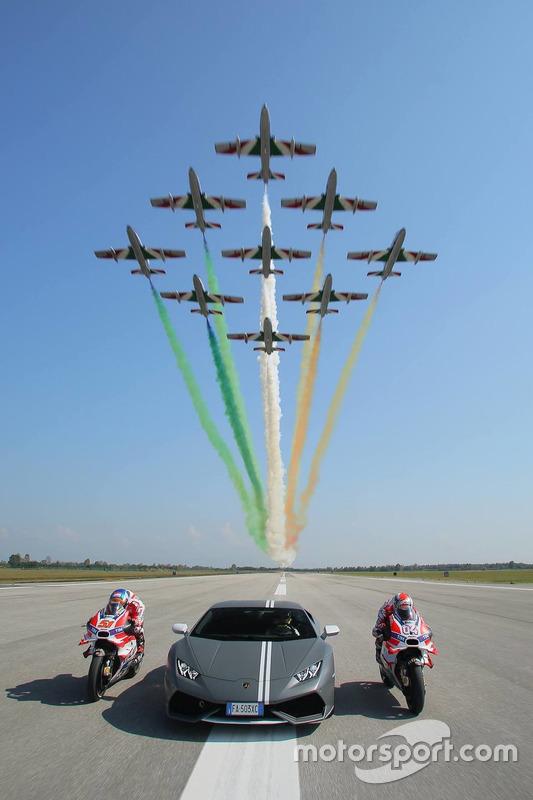 Andrea Dovizioso, Ducati Team; Michele Pirro, Ducati Team;  Mirko Bortolotti