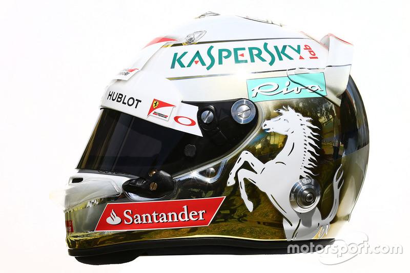 Helm von Sebastian Vettel, Ferrari