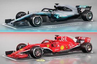 Comparazione tra la Mercedes AMG F1 W09 e la Ferrari SF71H