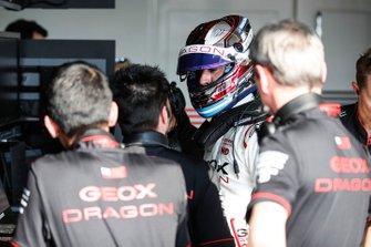 Jose Maria Lopez, GEOX Dragon Racing, Penske EV-3, in the garage