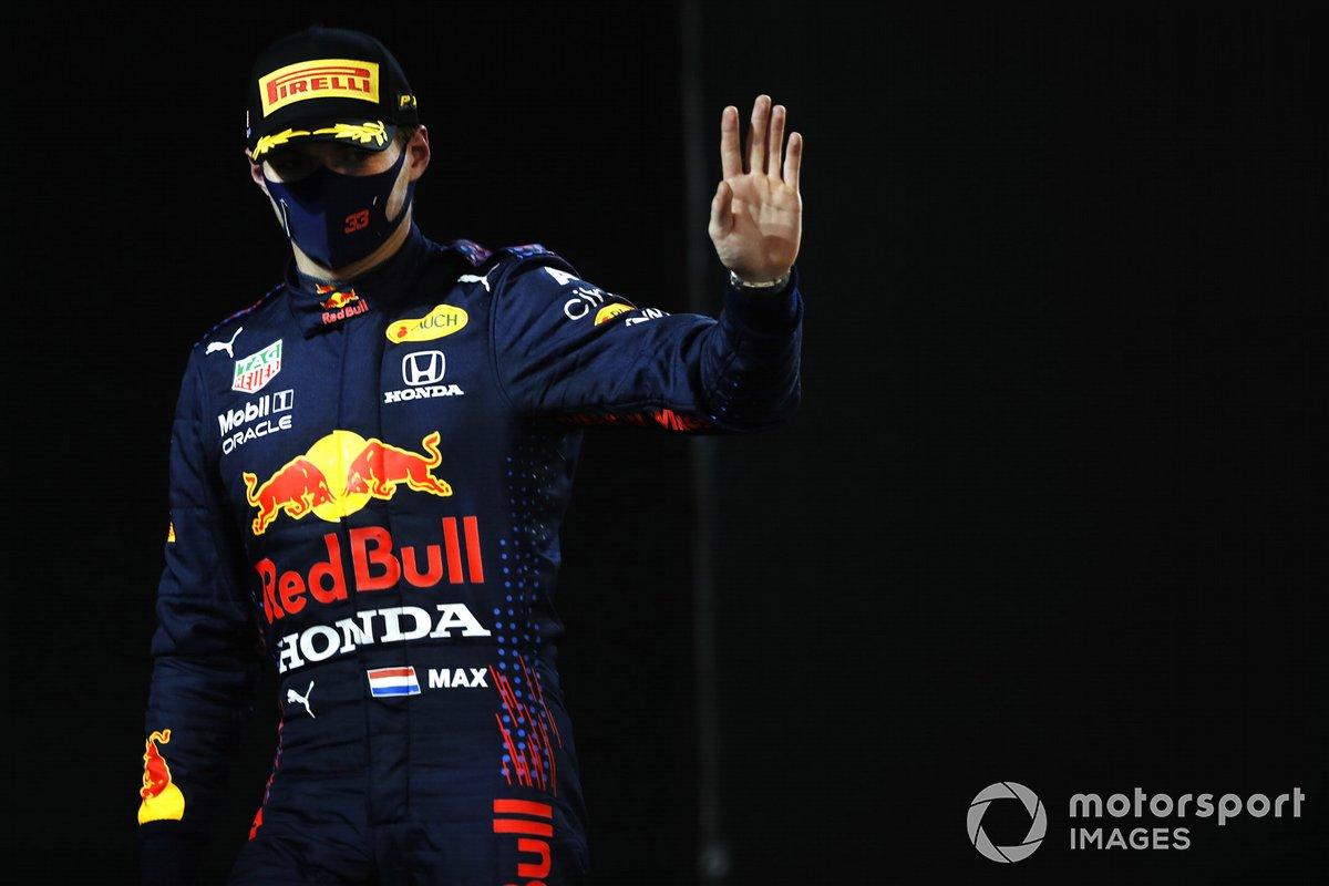 Le deuxième Max Verstappen, Red Bull Racing, dans le parc fermé
