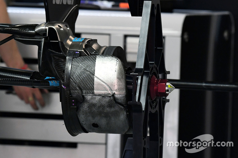 Force India VJM10 rear wheel detail