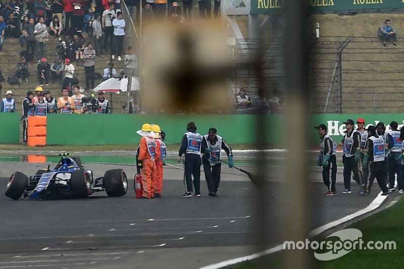 Антоніо Джовінацці, Sauber C36 аварія