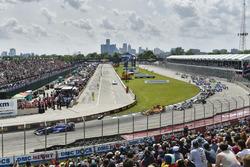 Takuma Sato, Andretti Autosport Honda, Ryan Hunter-Reay, Andretti Autosport Honda start