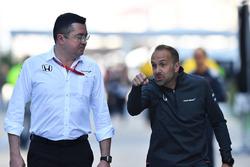 Eric Boullier, McLaren-Teamchef, mit Matt Morris, McLaren