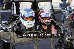 Mika Hakkinen et Sergio Perez, Force India