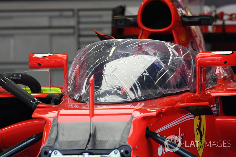 Ferrari SF70-H with cockpit shield