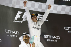 Podium: Second place Nico Rosberg, Mercedes AMG F1