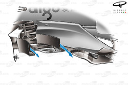 McLaren MP4-23 2008 bargeboard airflow
