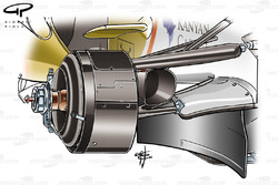 Force India VJM01 2008 front brake and suspension