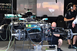 Mercedes-Benz F1 W08, in der Garage