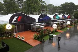 Regen im Fahrerlager