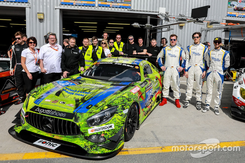 Team photo #16 SPS automotive performance Mercedes AMG GT3: Valentin Pierburg, Tim Müller, Lance-David Arnold, Tom Onslow-Cole