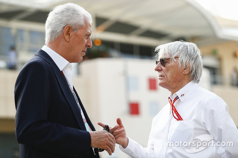Marco Tronchetti Provera, Executive Vice Chairman and Chief Executive Officer, Pirelli, with Bernie