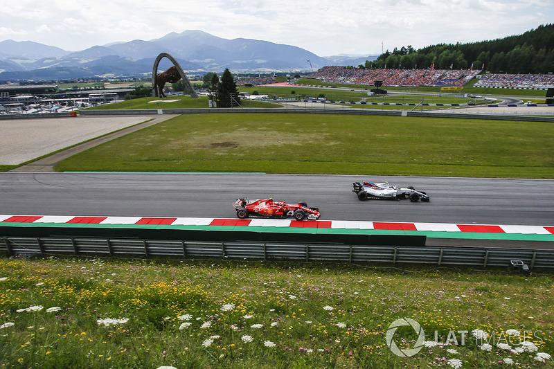 Кімі Райкконен, Ferrari SF70H, Ленс Стролл, Williams FW40