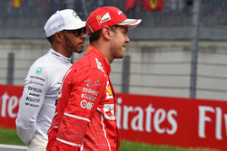 Lewis Hamilton, Mercedes AMG F1 and Sebastian Vettel, Ferrari