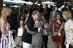 HSH Prince Albert of Monaco, and Jackie Stewart