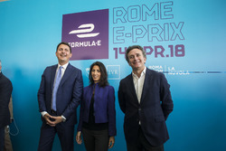 Roberto Diacetti, EUR S.p.A Chairman, Virginia Raggi, Mayor of Rome, Alejandro Agag, Formula E CEO, Founder, CEO of the FIA Formula E Championship