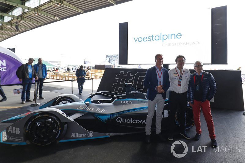 David Coulthard, British racing driver, TV Presenter, Alejandro Agag, CEO, Formula E, Dr Wolfgang Eder, Chairman, CEO of Voestalpine AG