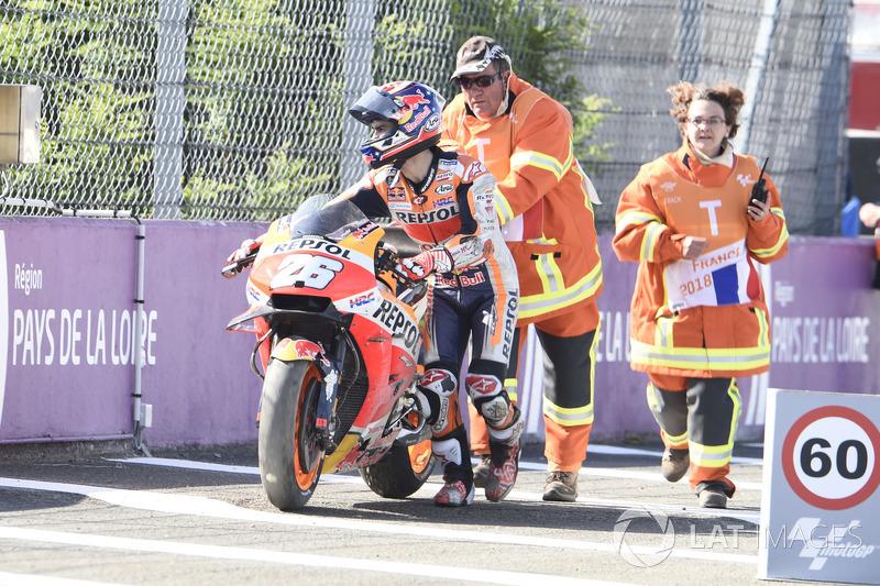 Dani Pedrosa, Repsol Honda Team after crash
