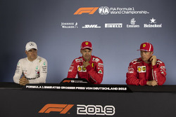 Valtteri Bottas, Mercedes-AMG F1, Sebastian Vettel, Ferrari and Kimi Raikkonen, Ferrari in Press Conference