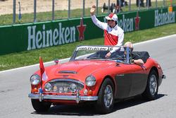 Charles Leclerc, Sauber, tijdens de rijdersparade