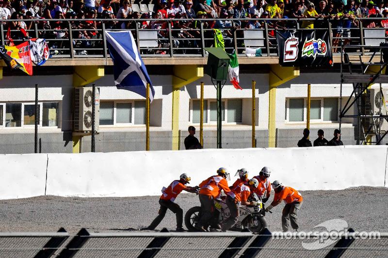 Sturz: Alvaro Bautista, Aspar Racing Team