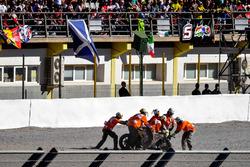 Choque de Alvaro Bautista, Aspar Racing Team