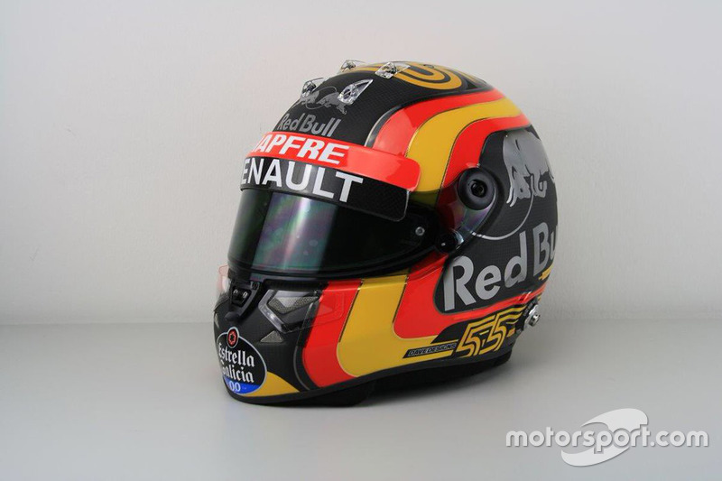 Casque de Carlos Sainz Jr., Renault Sport F1 Team