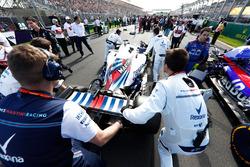 Lance Stroll, Williams FW41 Mercedes, sur la grille
