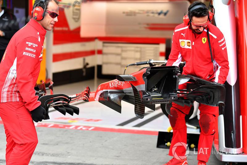 Носова частина Ferrari SF71H