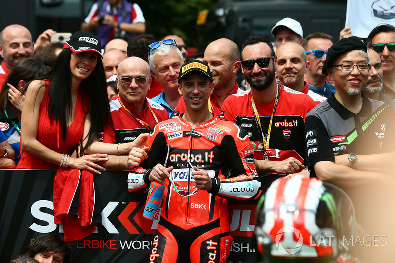 Il terzo classificato Marco Melandri, Aruba.it Racing-Ducati SBK Team