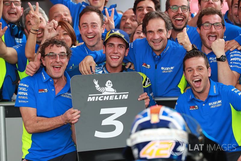 Third place Alex Rins, Team Suzuki MotoGP, Brivio