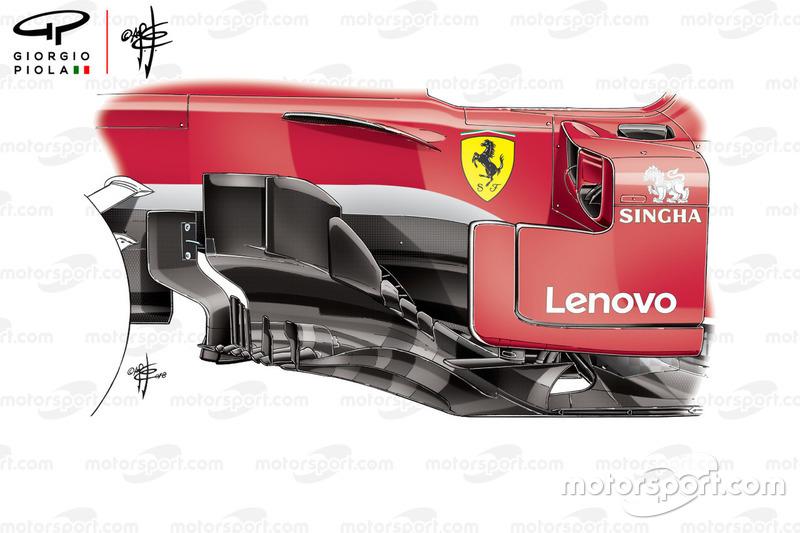 Ferrari SF71H bargeboard, Kanada GP