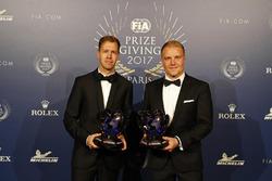 Sebastian Vettel and Valterri Bottas