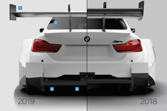 BMW M4 DTM Comparación 2018/2019