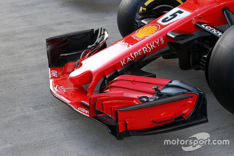 Alerón delantero del Ferrari SF71H