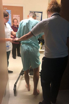 Tito Rabat en el hospital