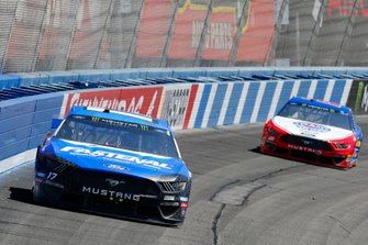 Ricky Stenhouse Jr., Roush Fenway Racing, Ford Mustang Fastenal and Joey Logano, Team Penske, Ford Mustang AAA Southern California