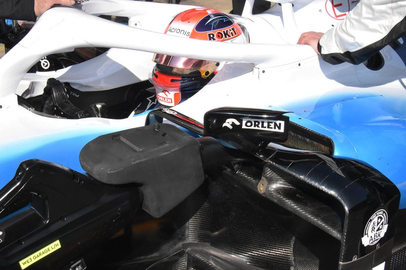 robert Kubica, Williams FW42 sidepods detail