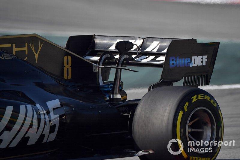 L'aileron arrière de la Haas F1 Team VF-19