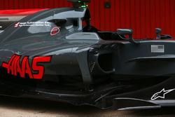 Haas F1 Team VF-17 sidepod detail