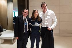 Tatiana Calderón, Toto Wolff, Mercedes AMG F1 Director of Motorsport