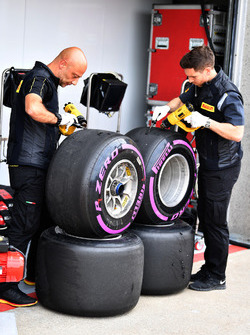 Pirelli engineers and Pirelli tyres