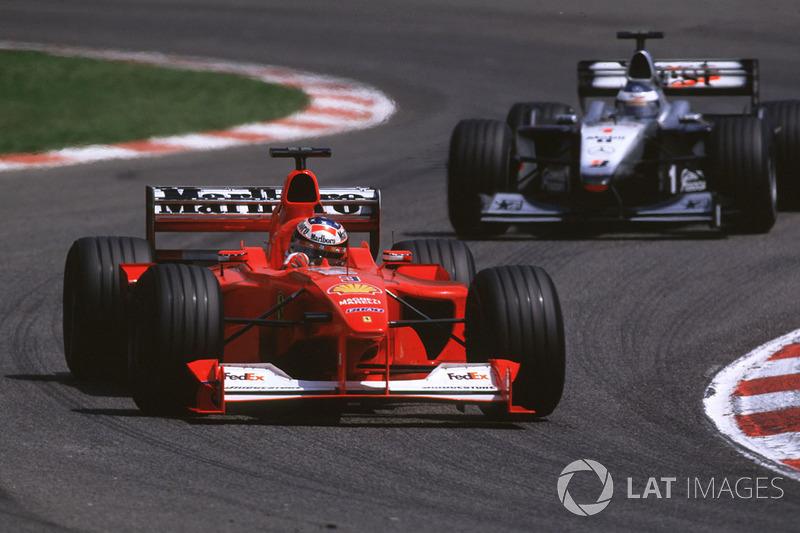Michael Schumacher y Mika Häkkinen en el GP de España