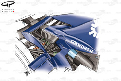 Williams FW28 2006 rear-end packaging