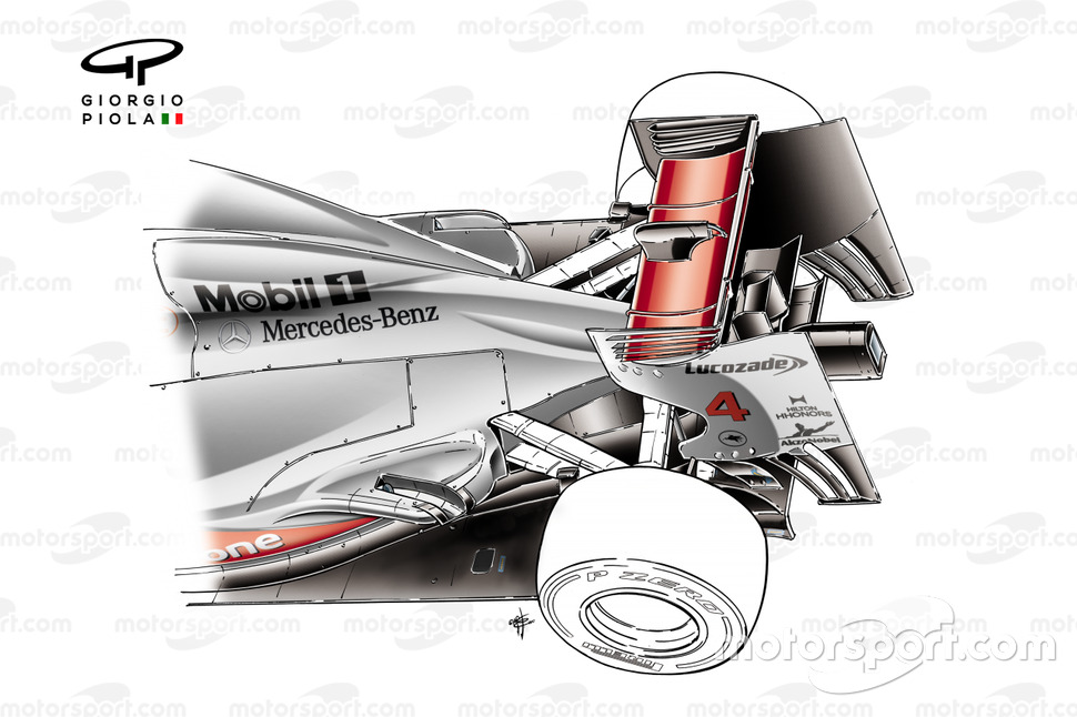 McLaren MP4-27 'Semi-Coanda' exhaust solution