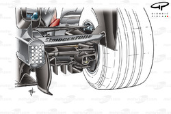 McLaren MP4-23 2008 diffuser and rear brake duct detail