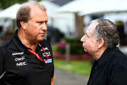 Robert Fernley, Sahara Force India F1 con Jean Todt, presidente de FIA